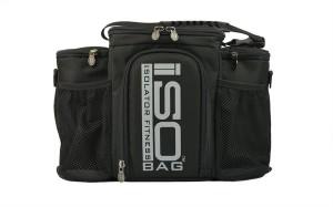 Isobag 3 Mahlzeiten Management System / Silbernes Logo/Schwarz / Isolierte Mahlzeiten-Kühltasche – Isolator Fitness
