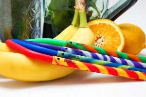 Wiederverwendbare Strohhalme aus BPA-freiem Silikon