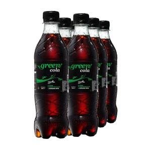 Green Cola Getränk Zuckerfrei Aspatamefrei – inkl. Pfand (PET Flasche 0,5l 6er Pack)