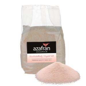 Rosa Kristallsalz aus Pakistan (auch bekannt als Himalaya Salz) 1kg fein von Azafran® | Steinsalz | Ursalz – Intensiv im Geschmack