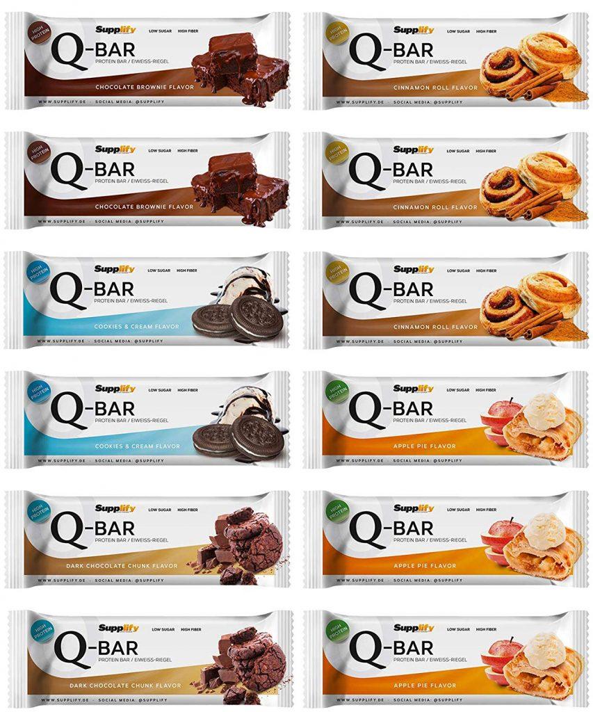 Q Bar Protein Riegel Probier Paket